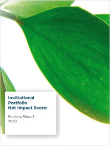 2020 Institutional Net Impact Ranking Report with Genus Capital Management's logo